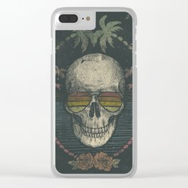 Palm Skull Clear iPhone Case