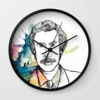 anchorman Wall Clocks featuring Ron Burgundy, Anchorman of Legend by AnnieInk