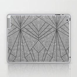 Art Deco in Black & Grey - Large Scale Laptop & iPad Skin