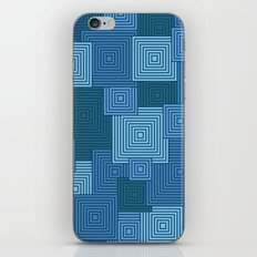 Blue Platformer iPhone & iPod Skin