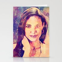 angelina jolie Stationery Cards featuring JOLIE by Ruy Arte Hewitt
