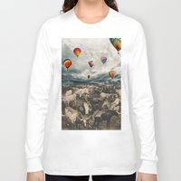 balloons Long Sleeve T-shirts featuring Balloons by Mrs Araneae