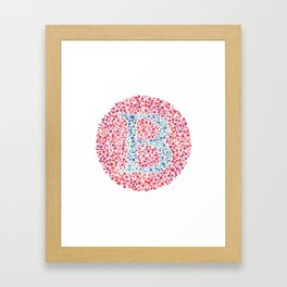 """B"" Eye Test Letter Circle Framed Art Print"