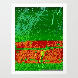 Dr Glitch Pattern Art Print