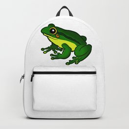 Green Frog Clipart Backpack