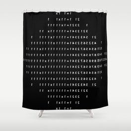Not Equal Shower Curtain
