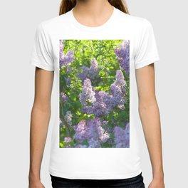 Summer lilac nature pattern T-shirt