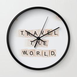 Travel the world #buyart #society6 #decor Wall Clock
