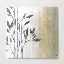 Bamboo Gray Metal Print