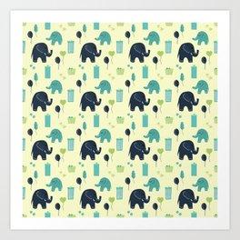 ELEPHANT PARTY Art Print