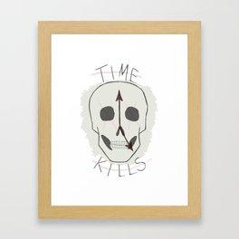 Time Kills Framed Art Print