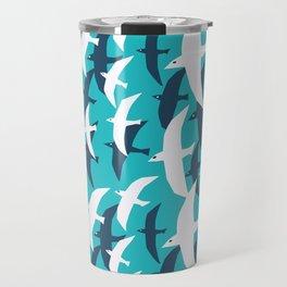 Seagulls, seamless pattern Travel Mug