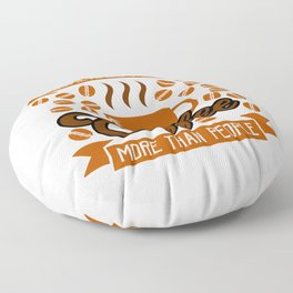 Coffee and People Choices Floor Pillow