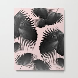 Fan Palm Leaves Paradise #2 #tropical #decor #art #society6 Metal Print