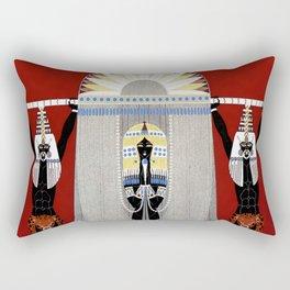 """The Egyptian"" Art Deco Illustration Rectangular Pillow"
