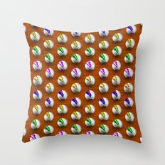 Marbles on Wood Pattern Throw Pillow