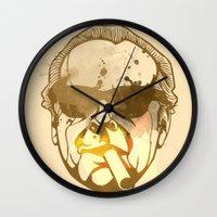 jack nicholson Wall Clocks featuring Jack Nicholson by BIG Colours