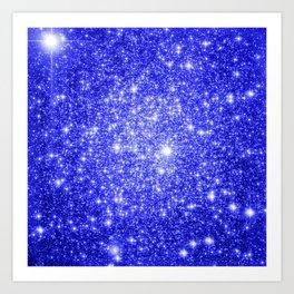 Royal Blue GAlAXY Stars Art Print