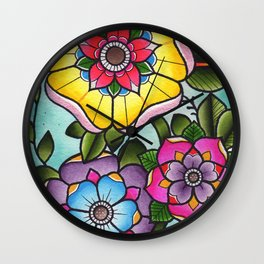 Geo Flower Cluster Wall Clock
