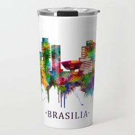 Brasilia Brazil Skyline Travel Mug
