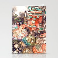 spirited away Stationery Cards featuring Spirited Away by Foya