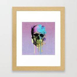 skull in purple Framed Art Print