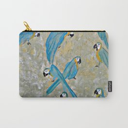 Gold And Blue Macaws Carry-All Pouch