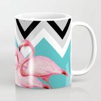 geometric Mugs featuring geometric  by mark ashkenazi