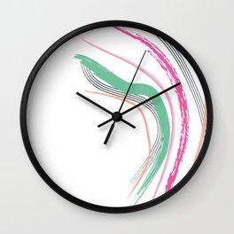 Coral Slide Wall Clock