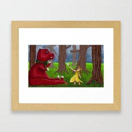 Jane and Chompy Framed Art Print