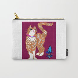 Kitty Alexander with Fleur de Lis Carry-All Pouch