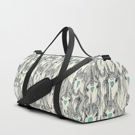unicorn love indigo mint pearl Duffle Bag