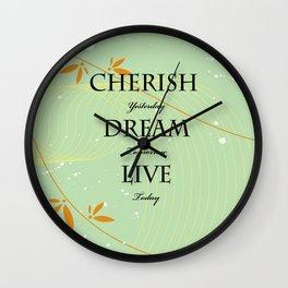 Dream Quote Wall Clock