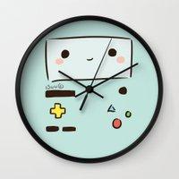 bmo Wall Clocks featuring BMO by I3uu