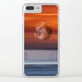 floating mooon Clear iPhone Case