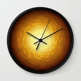 Abstract golden circle with glow light effect. Wall Clock