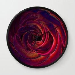 hote colors rose Wall Clock