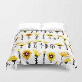 Sunny Days Ahead / floral art Duvet Cover