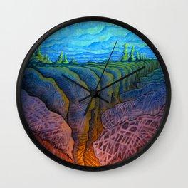 deep fracture Wall Clock