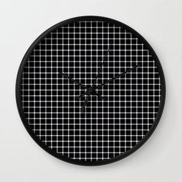 Black and White Optical Illusion Wall Clock