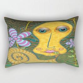 Portrait of the Artist as a Young Snail Rectangular Pillow