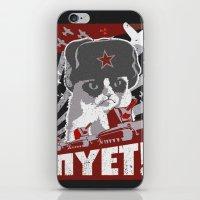 soviet iPhone & iPod Skins featuring grumpy soviet by tshirtsz