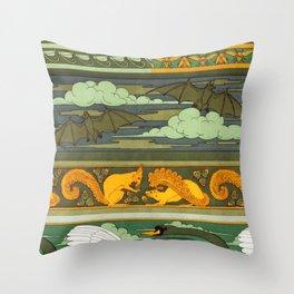 Oiseaux Throw Pillow