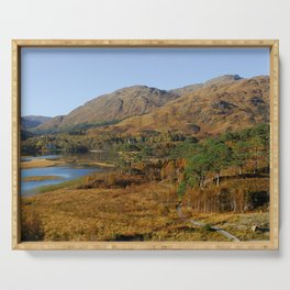 Glenfinnan Autumn Colors in Scotland Serving Tray