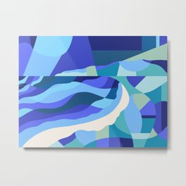 Oceana | Contemporary Abstract Metal Print