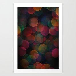 Rainbow Bokeh II Art Print