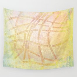 Abstract Pink Yellow and Blue Texture Design Wall Tapestry