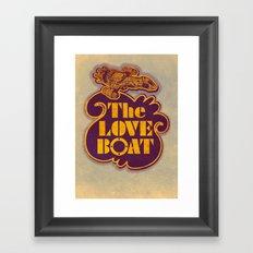 The Love Boat Framed Art Print
