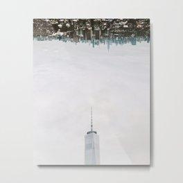 New York City Upside Down Metal Print