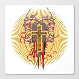 The Cross at Sunrise Canvas Print